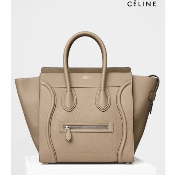 Celine Handbags - CÉLINE LEATHER MINI LUGGAGE IN COLOR DUNE 4f00aec2c3a62